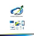 Cloud computing data storage technology logo vector image vector image