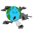 coughing planet earth vector image
