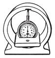 cylinder gage vintage vector image vector image