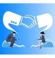 Deals are made in cloud business concept vector image vector image