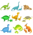 Different Dinosaurs In Pairs Of Big And Small vector image