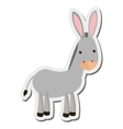 donkey cartoon icon vector image vector image