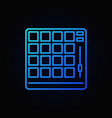 drum machine blue outline icon or logo vector image