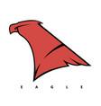 eagles head logo vector image vector image