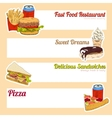 Fast food menu banner vector image vector image