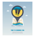 flippers pin map icon summer vacation vector image