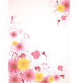 floral background with pink flowers vector image vector image