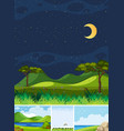 four different scene nature place in vertical vector image vector image