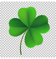 four-leaf shamrock clover icon lucky fower-leafed vector image