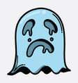 ghost doodle color icon drawing sketch hand drawn vector image vector image