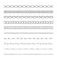 hand drawn borders design elements vector image vector image