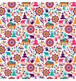 happy holi elements seamless pattern design vector image vector image