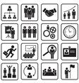 human resource icon vector image vector image
