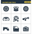 Icons set premium quality of car parts tools icon vector image vector image