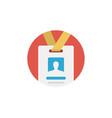 id card icon sign symbol vector image vector image