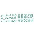 isometric big set arrows infographic blue vector image