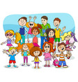 kids and teens cartoon characters group vector image vector image
