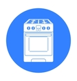 Kitchen stove icon in black style isolated on vector image