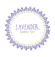 lavender flower wreath logo design text hand drawn vector image vector image