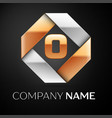 letter o logo symbol in the colorful rhombus on vector image vector image