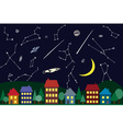 night sky above the city vector image vector image