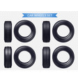 realistic car tires transparent set vector image vector image