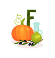 ripe pumping brunch of olives and bottle of oil vector image