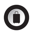 round black and white button - suitcase icon vector image vector image