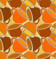Seamless pattern with cups vector image vector image