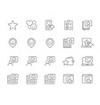 set customer feedback line icons client vector image