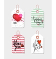 Set of four hand drawn gift tags vector image vector image