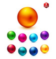 Shiny Colored Spheres on White Background vector image