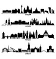 silhouettes warsaw vienna prague and dublin vector image vector image