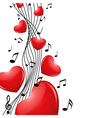 singing heart vector image vector image