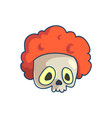 skull clown icon vector image