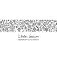 snowflake seamless border pattern christmas vector image vector image