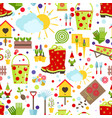 spring and gardening seamless pattern tools vector image