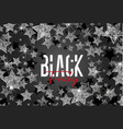 stars background black friday vector image vector image