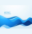 stylish blue wavy abstract background vector image vector image