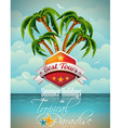 Summer holiday flyer design with palm trees vector | Price: 3 Credits (USD $3)