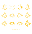 sun symbol icon set vector image