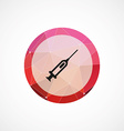 syringe circle pink triangle background icon vector image vector image