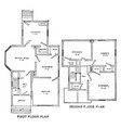 the beck floor plans 3 beds 2 baths 2 garage vector image vector image