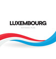 the grand duchy luxembourg waving flag banner vector image vector image