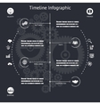Timeline Infographics Elements Symbols and Icons vector image vector image