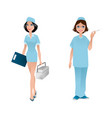 two friendly doctors vector image