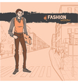 Urban fashion vector image