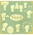 Vintage cover Menu with Chefs vector image