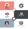 pet shop logo designs vector image