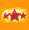 star sign glowing element retro light vector image